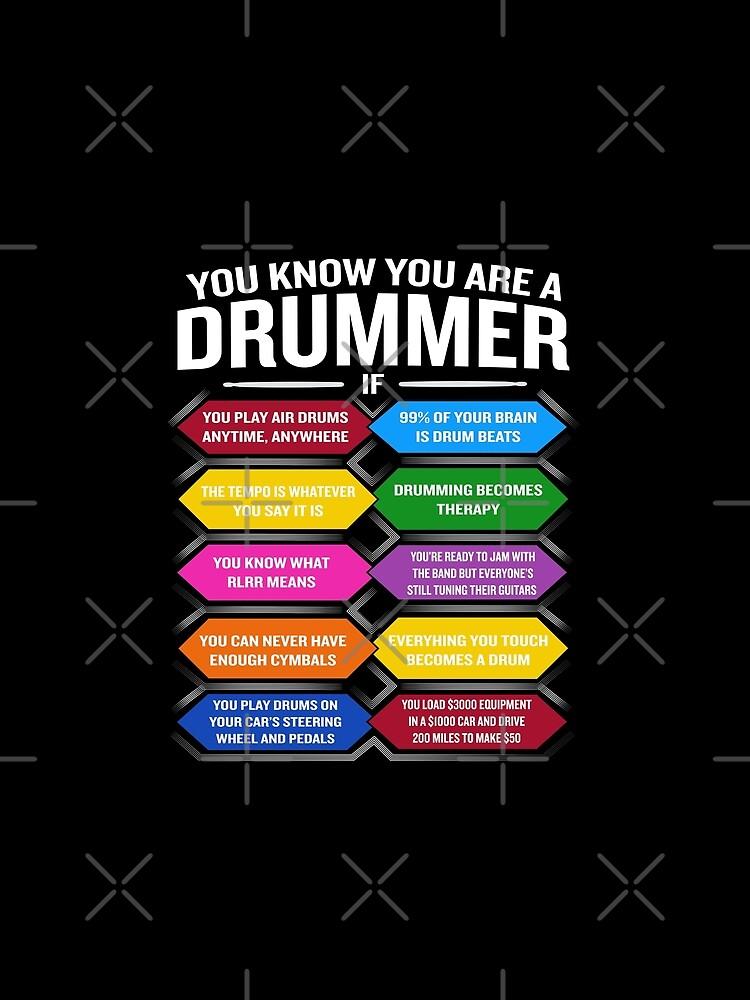 Eres un baterista si la cita divertida del tambor muestra los 10 mejores signos de JapaneseInkArt