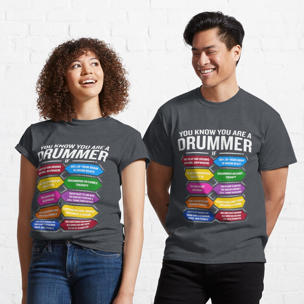 Boys Drumming T-Shirt On The Brain Kids Funny Drum Drums Drummer Kit Sticks