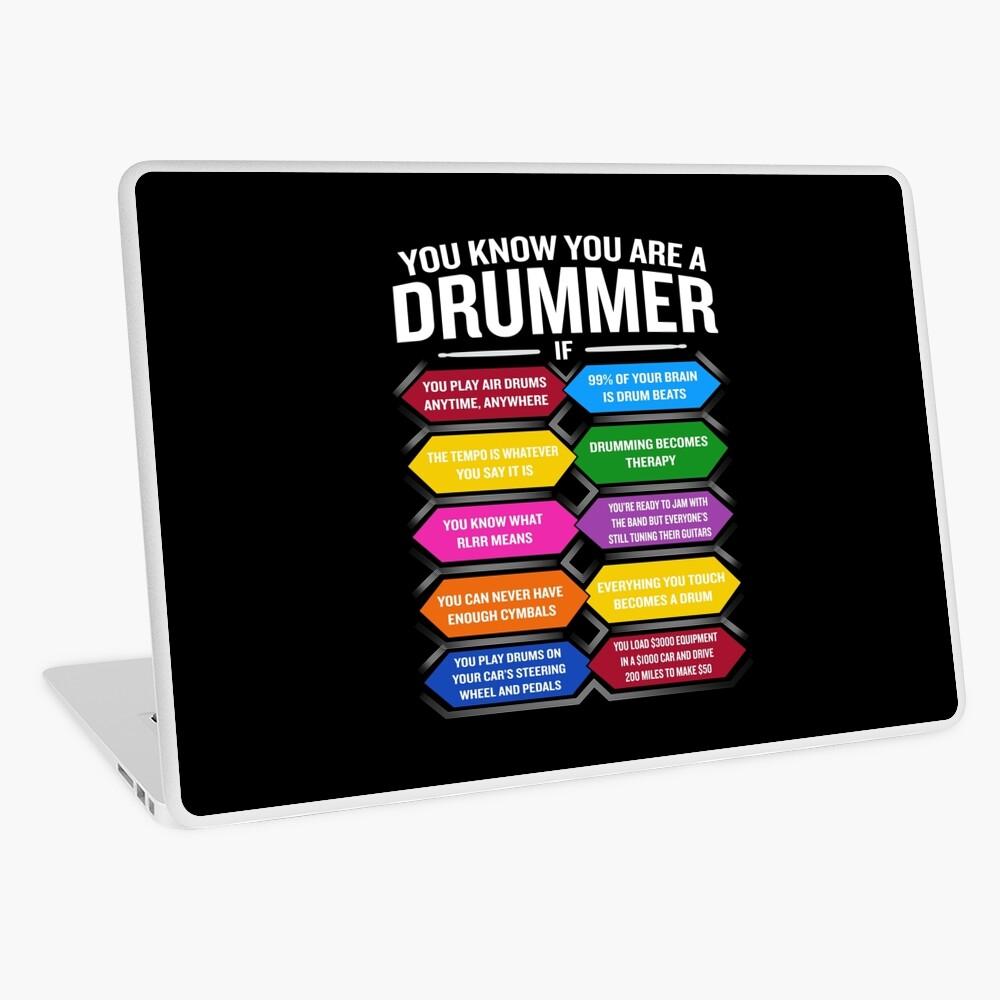 Eres un baterista si la cita divertida del tambor muestra los 10 mejores signos Vinilo para portátil