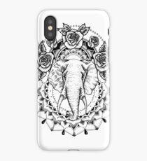 Floral Elephant Mandala iPhone Case/Skin