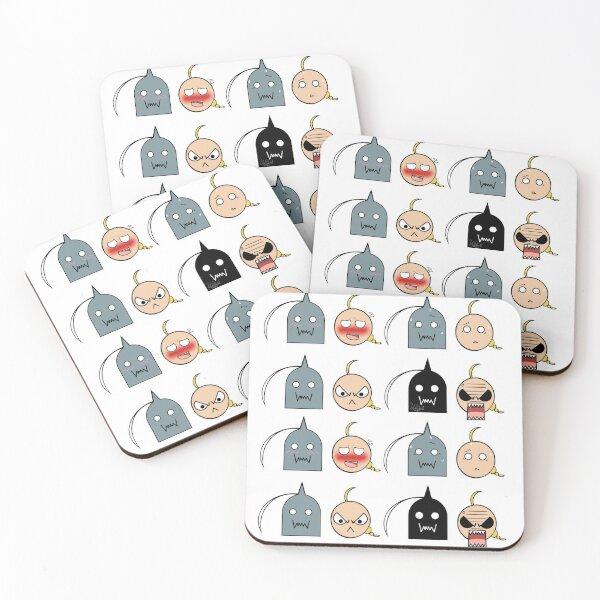 Ed and Al - Chibi expressions Coasters (Set of 4)
