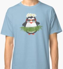 Cute Hawaiian Hula Penguin with Sunglasses Classic T-Shirt