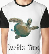 Funny Turtle Time Design Graphic T-Shirt