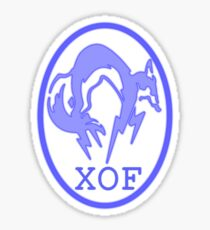 XOF logo- purple Sticker