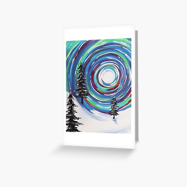 Whimsical Winter Scene Greeting Card