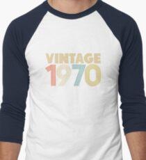 Vintage 1970 - 48th Birthday Baseball ¾ Sleeve T-Shirt