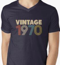 Vintage 1970 - 48th Birthday Men's V-Neck T-Shirt