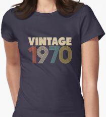 Vintage 1970 - 48th Birthday Women's Fitted T-Shirt