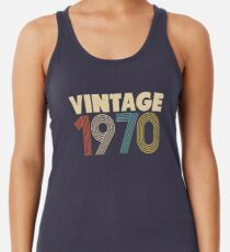 Vintage 1970 - 48th Birthday Racerback Tank Top