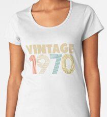 Vintage 1970 - 48th Birthday Women's Premium T-Shirt