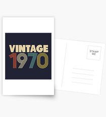 Jahrgang 1970 - 48. Geburtstag Postkarten
