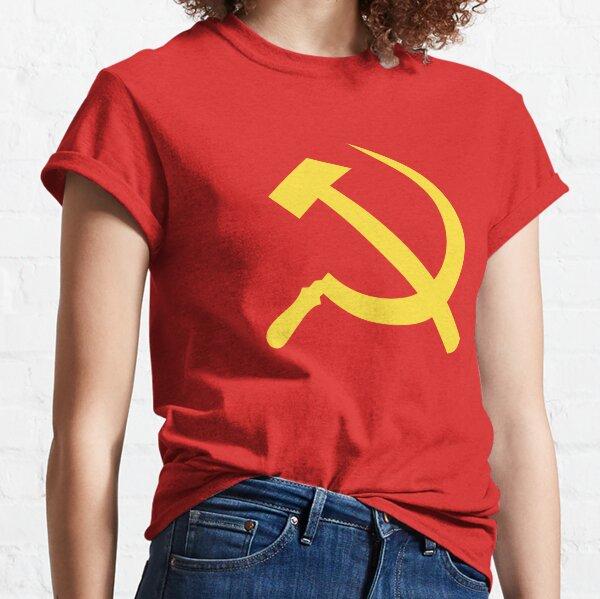 Communist Flag Hammer and Sickle Symbol Classic T-Shirt
