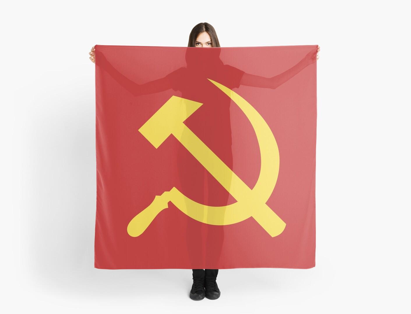 Communist flag hammer and sickle symbol scarves by chocodole communist flag hammer and sickle symbol by chocodole biocorpaavc Gallery
