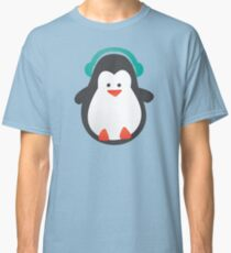Cute Penguin with Headphones Classic T-Shirt