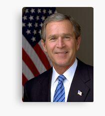 George W Bush Portrait Canvas Print