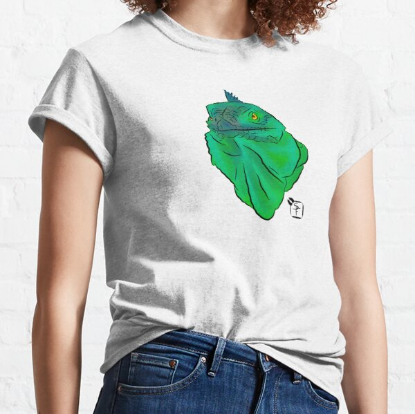 Teal and Green Iguana Classic T-Shirt