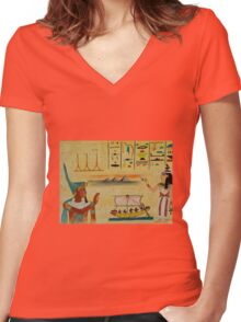 Ancient Egypt Women's Fitted V-Neck T-Shirt