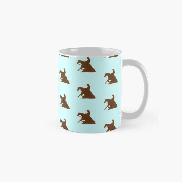Brown Reining Horse On Light Blue Classic Mug