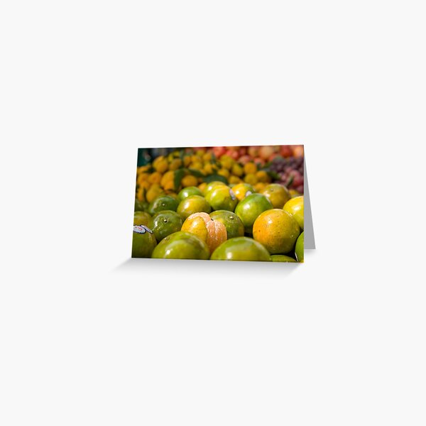 Oranges in Bangkok Greeting Card
