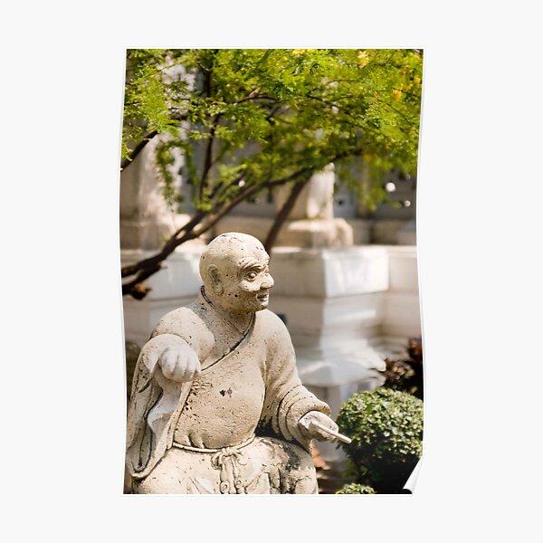 Monk Statue in Wat Po Poster