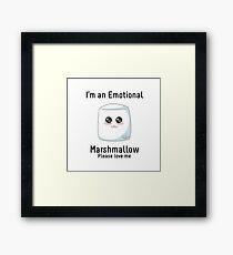 Emotional Marshmallow Framed Print