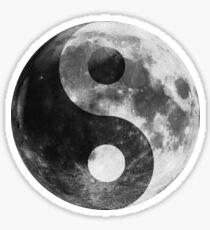 Moon Ying Yang Symbol, Full Moon Luna Sticker