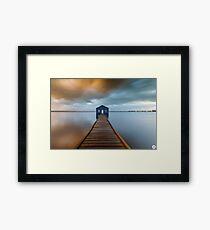 Crawley Edge Boatshed Framed Print