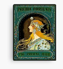 PSYCHIC FORTUNES : Vintage Gypsy Fortune Teller Advertising Print Canvas Print