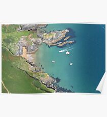 Salcombe from above Poster
