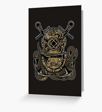 Diver Octopus Greeting Card