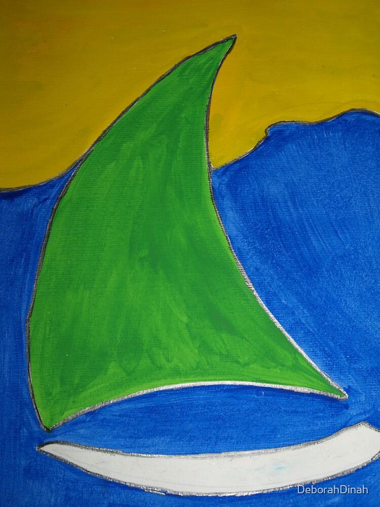 Green sails by DeborahDinah