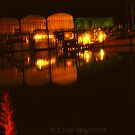 Night At The Point In Colonial Beach Virginia by Clayton Bruster