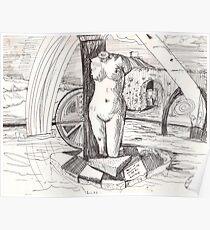 APRODITE(C1996)(INK PEN DRAWING) Poster