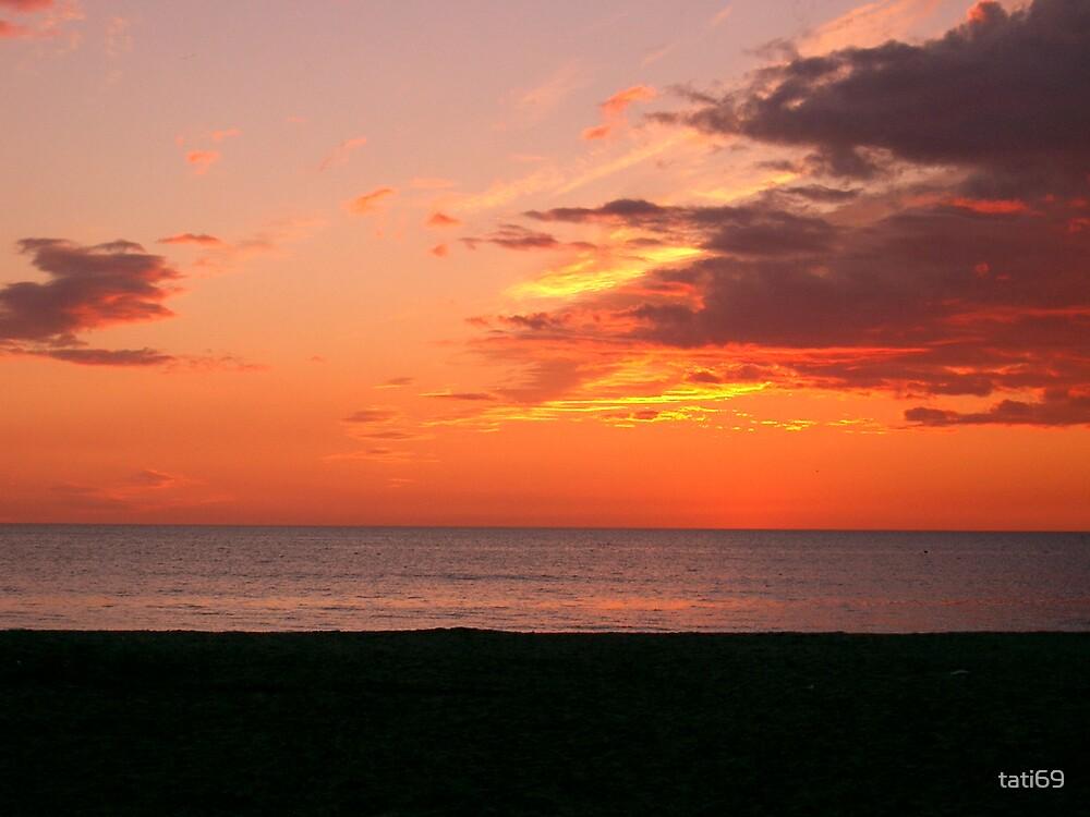 Sunset in Viareggio by tati69