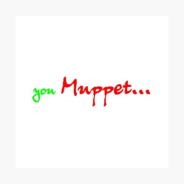 You MUPPET Photographic Print