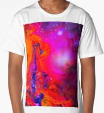Warm Purple Pink And Red Cool Girly Art Pattern Long T-Shirt