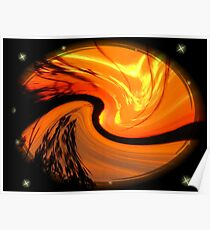 Mt. Dora Sunset Abstract Poster