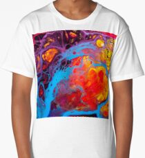Cute Colorful Girly Abstract Watercolor Pattern Long T-Shirt
