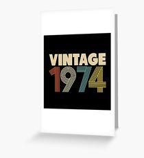 Vintage 1974 - 44th Birthday Greeting Card