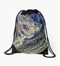 Black Canyon of the Gunnison the River and the Cliffs Drawstring Bag