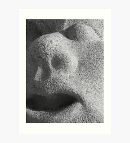 Stoney Faced Art Print