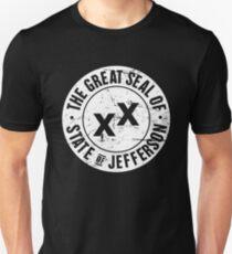 Bundesstaat Jefferson | Distressed Siegel Slim Fit T-Shirt