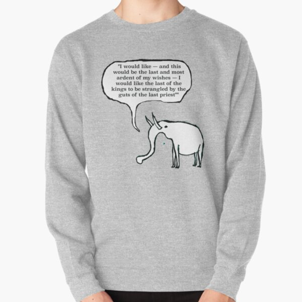 A GoodThoughtsElephant no1 of series Pullover Sweatshirt