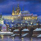 The Prague Panorama Charles Bridge Prague Castle by Yuriy Shevchuk
