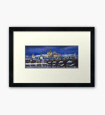 The Prague Panorama Charles Bridge Prague Castle Framed Print