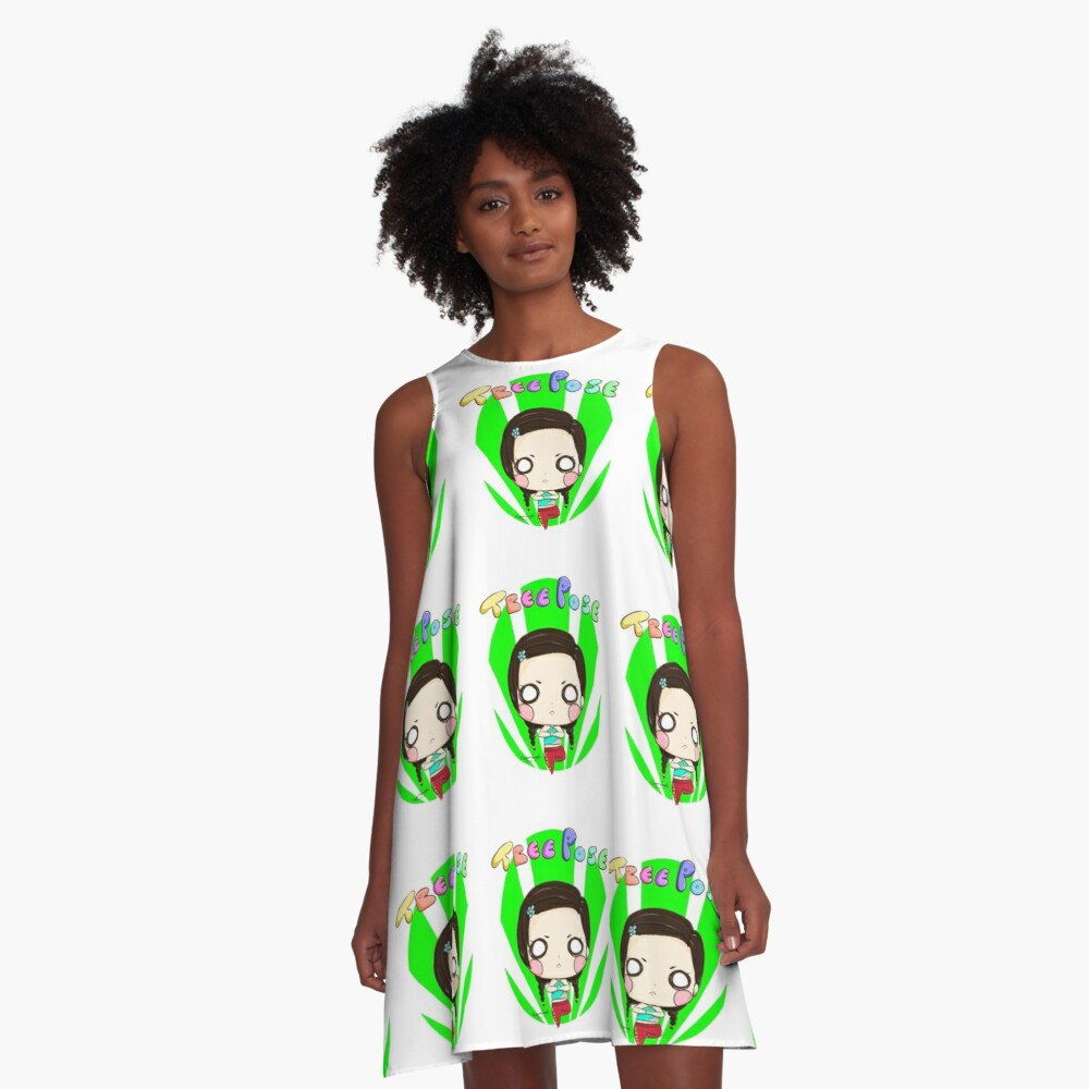 Tree Pose  A-Line Dress Front