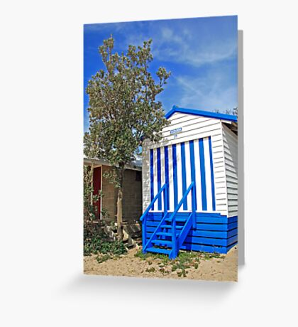 Beach Hut Dromana Greeting Card