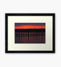 Colonial Beach Scenic Framed Print