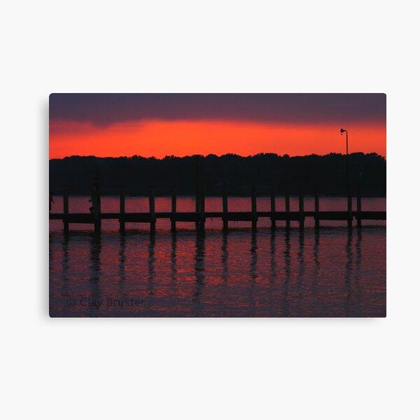 Colonial Beach Scenic Canvas Print