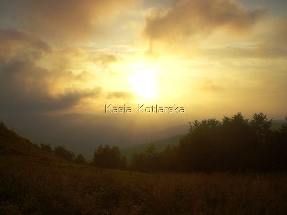 Misty evening by Kasia  Kotlarska